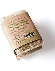 Loofah & Sponge Pad Natural Biodegradable Body & Multipurpose Loofah 2 pack