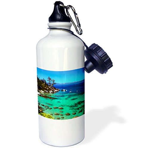3dRose wb_92266_1''Nevada Lake Tahoe. Kayakers US29 RER0003 Ric Ergenbright Sports'' Water Bottle, 21 oz, Natural by 3dRose