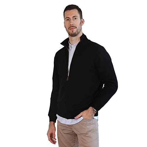 94a8be2c4 MARMO DI CARRARA Men's 100% Merino Wool Winter Sweater Knitted With ...