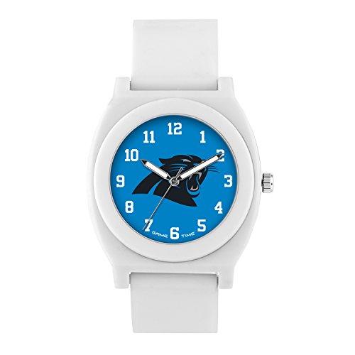 Panthers Fan Series - NFL Carolina Panthers Mens Fan Series Wrist Watch, White, One Size