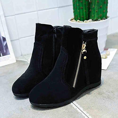 Zapatos Con Gamuza Martin Cuñas Borla Negro2 Logobeing Zapatillas Para Cremallera Botines Mujer Plataforma De Boots Casuales BzBXIw
