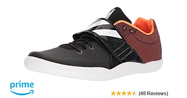 promo code d73b6 66e56 Amazon.com  adidas Adizero DiscusHammer Running Shoe, core Black, FTWR  White, Orange, 5.5 M US  Track  Field  Cross Country