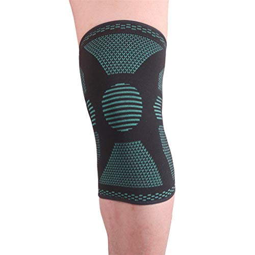 - Knee Support with Adjustable Compression Strap,CHUNKUNA Support Running, Basketball, Apply to Joint Pain and Relieve Arthritis, Reduce Arthritis Injury (Grenn, M)