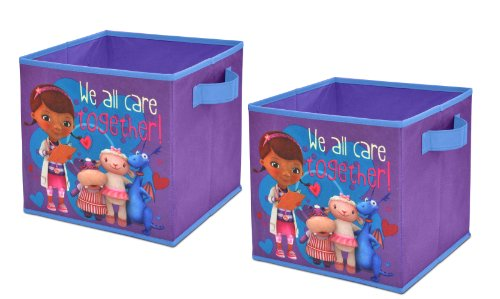 Disney Doc McStuffins Storage Cubes, Set of 2, 10-Inch -