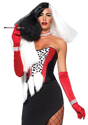 5 Piece Costumes (Leg Avenue Women's 5 Piece Cruel Diva Costume, Multi, Small)
