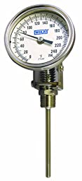 WIKA TI.32 Stainless Steel 304 Process Grade Bi-Metal Thermometer, 3\