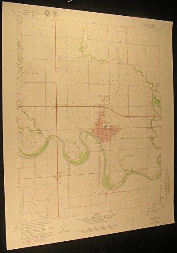 Tonkawa Oklahoma Arkansas River 1979 vintage USGS original Topo chart map