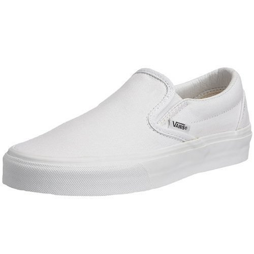 Slip On Shoes Women - VANS Classic Slip Ons Skate Shoes Sneakers Canvas Surf True White 8 Men 9.5 Women