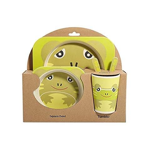 Amazon.com: Juego de vajilla de 5 piezas con diseño de ...