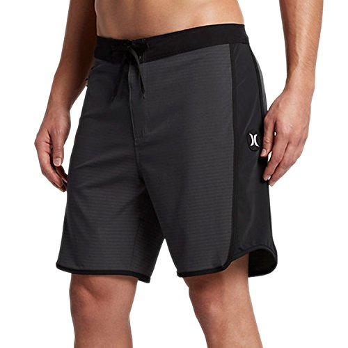 New Hurley Men's Phantom Motion Stripe Boardshort Polyester Spandex - Lycra Shorts Swim Mens