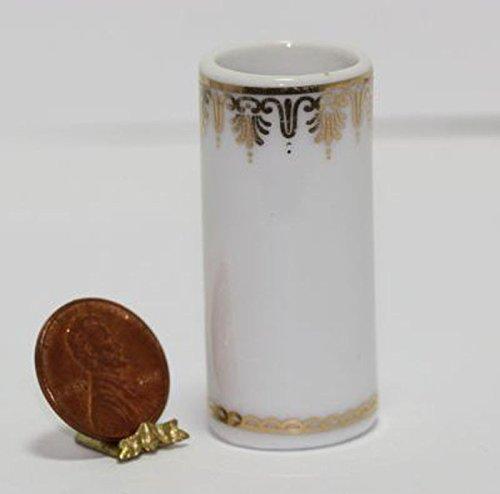 Umbrella Accents (Dollhouse Miniature 1:12 Scale Umbrella Stand w/Gold Accents)