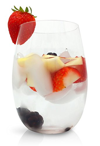 Unbreakable Stemless Wine Glasses - Set of 4
