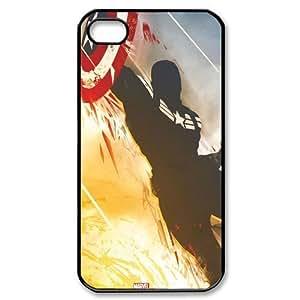 Captain America Design Hard Case High-quality Custom Cases for iPhone 4S (TPU)