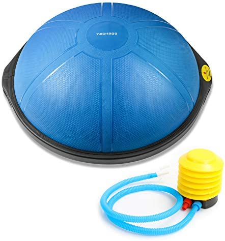 TECHMOO Half Balance Ball Trainer Indoor Yoga Gym Training Full-Body Workout Equipment