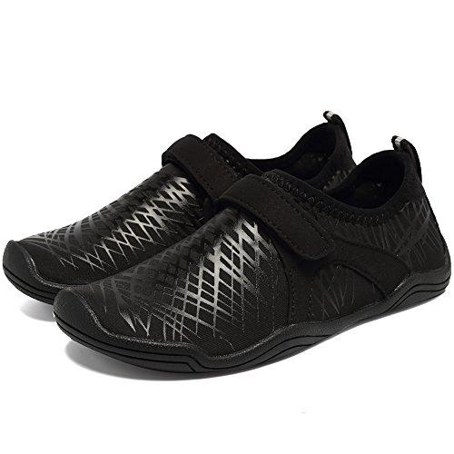 Fantiny Boys & Girls Water Shoes Lightweight Comfort Sole Easy Walking Athletic Slip on Aqua Sock(Toddler/Little Kid/Big Kid) DKSX-Black-34 by CIOR (Image #3)