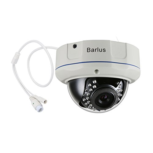 Security Camera Barlus IK10 Poe IP Dome Camera Vandal Proof 1080p Camera with Built-in Microphone,Ethernet Power Supply And Transmission Sound,Android, IOS, Computer Remote Viewing
