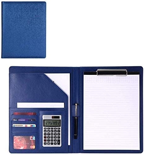 WZJN Konferenzordner Aktentasche Mappe A4 Größe Zwischenablage Resume/Meeting/Legal Document Organizer Wie viel Optional Visitenkartenhalter for Business School Büro (Color : Blue, Size : 325x250mm)