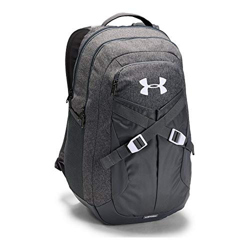 Under Armour Recruit 2.0 Backpack, Graphite Medium Heather/White, One -