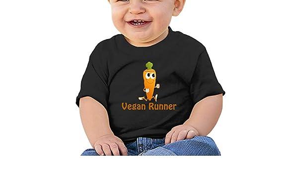 SakanpoRunning Carrots Toddler//Infant Short Sleeve Cotton T Shirts Black
