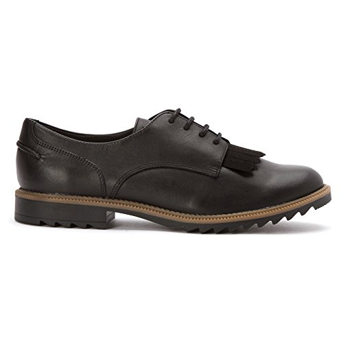 Clarks Donna Griffin Mabel Oxford In Pelle Nera