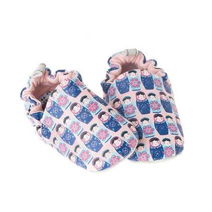 Mini-Calcetines de algodón, diseño de rosas y ante Babushka-Poco Nido