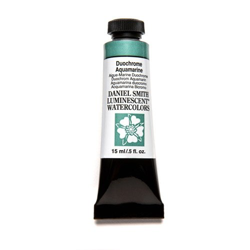 Daniel Smith Extra Fine Watercolor 15ml Paint Tube, Duochrome, Aquamarine (Light Paint Aquamarine)