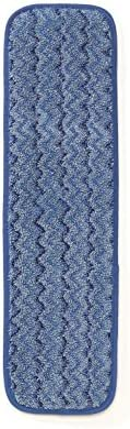 Rubbermaid Commercial (FGQ41000BL00) HYGEN Microfiber Damp Room Mop, 18-Inch, Blue (pack of 12)