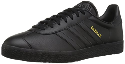 Adidas Originals Men's Gazelle Lace-up Sneaker,Black/Black/Gold Metallic,8.5 M US