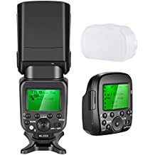 Neewer 2.4G Wireless 1/8000s HSS TTL GN58 Flash Speedlite Master/Slave with Trigger Transmitter for Sony Cameras with New Mi Hot Shoe like A7 A7R A7S A7II A7RII A7SII A6000 A6300 A6500(NW630)