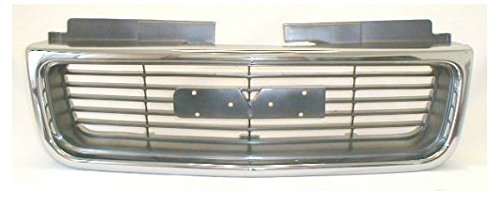 Chrome & Argent Grille Grill for GMC Envoy Jimmy Pickup S-15 Sonoma Truck