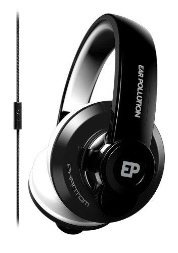 iFrogz EP-PHT-BLK Earpollution Phantom Headphones with Mic - Black
