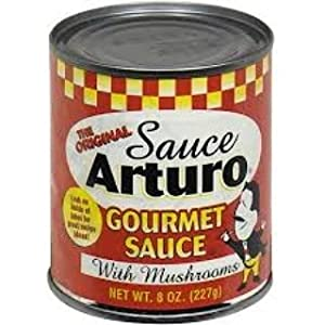 Arturo Original Gourmet Sauce with Mushrooms, (8 Oz) Cans (6)