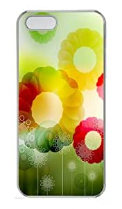 Brilliant Circle Background Polycarbonate Plastic Hard Case for iPhone 5S and iPhone 5 Transparent
