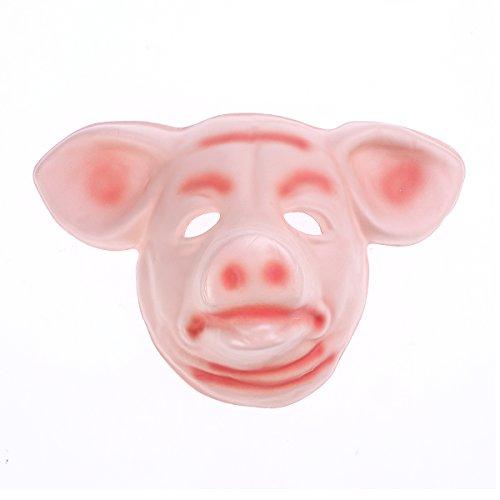 BESTOYARD Plastic Pig Head Mask Animal Masks Halloween Party Performance Props Halloween Supplies ()