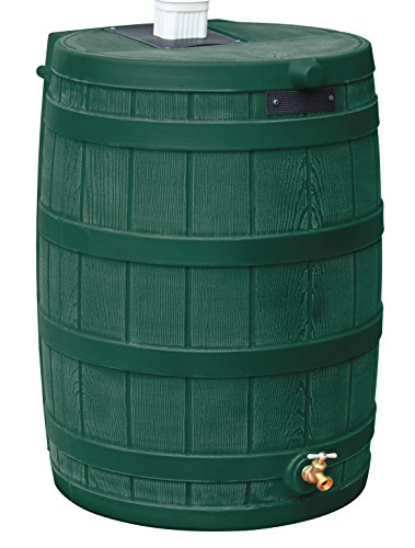 Good Ideas RW50-GRN Rain Wizard Rain Barrel 50 gallon, Green