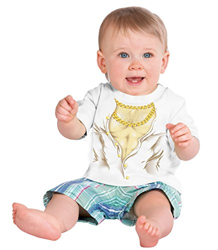 Little Boys' Muscle Man | Funny Chest Hair & Gold Chains Printed Toddler T-shirt