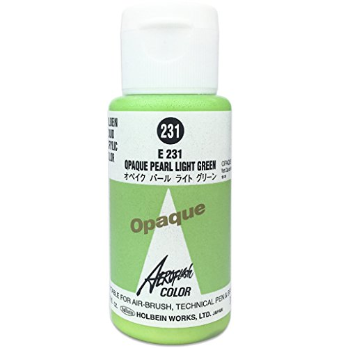 231 Light (Aeroflash Color (Opaque Pearl Light Green E-231) 1 Bottle of 35ml From Holbein Japan)