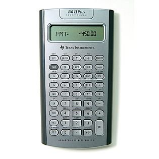TEXAS INSTRUMENTS PROFESSIONAL FINANCIAL CALCULATOR BA II PLUS