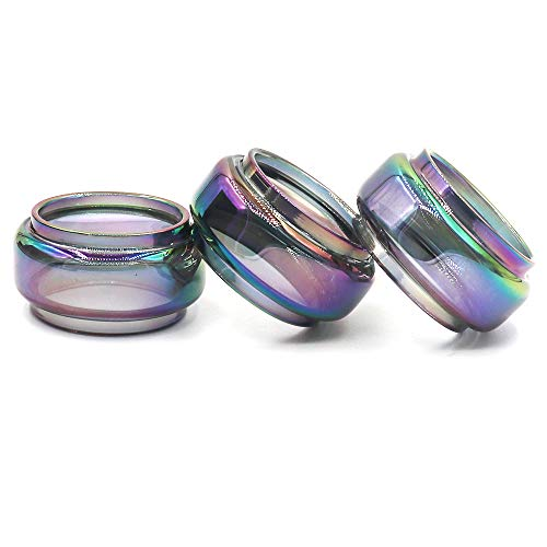 CENGLORY 3PCS Replacement Fat Bulb Glass Tube 8.5ml Capacity for Stick V9 Max (Rainbow)
