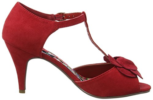 Joe Browns Forever Vintage T Bar Shoes - Zapatos Mujer Red (a-red)