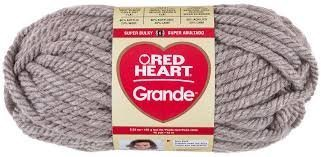 (Ship From USA) Bulk Buy: Red Heart Grande Oatmeal (2-pack) / Soft, super bulky acrylic/wool blend yarn is perfect for arm knitting or any quick project. Comes in a beautiful range of heathered shade