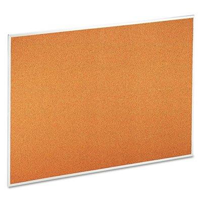 Bulletin-Board-Natural-Cork-48-x-36-Satin-Finished-Aluminum-Frame