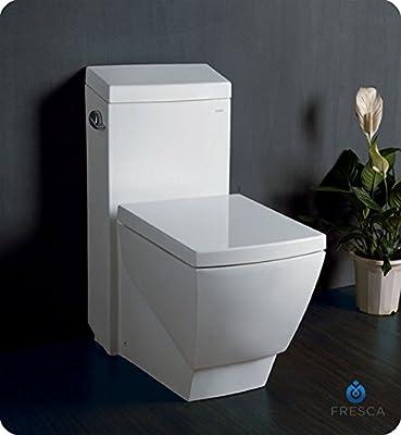 Fresca Bath FTL2336 Apus 1 Piece Square Toilet with Soft Close Seat