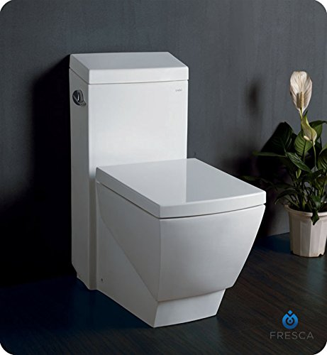 Fresca Bath FTL2336 Apus 1 Piece Square Toilet with Soft Close Seat