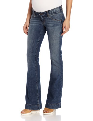 Maternal America Women's Maternity  Boot Cut Jean, Classic Wash, X-Small by Maternal America