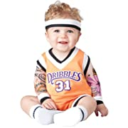InCharacter Baby's Double Dribble Basketball Player Costume, Orange/Black, Small