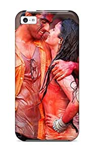 8236925K34480328 Hot Style Protective Case Cover For Iphone5c(colorful Wet Indian Guy Girl In Holi Festival)