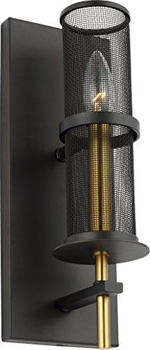 Collection Palmyra (Feiss WB1886ORB/BBS Transitional One Light Wall Sconce from Palmyra Collection in Bronze/Dark Finish)