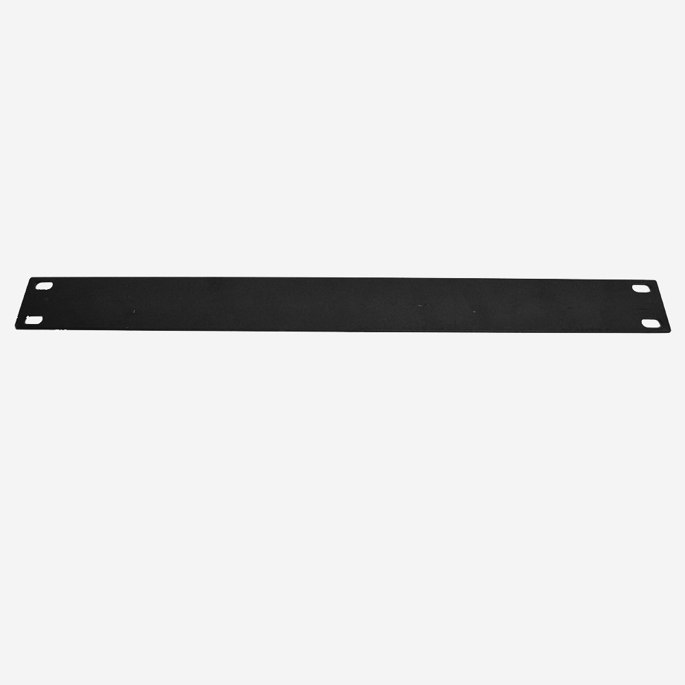 Seismic Audio - 1 Space Black Rack Case Filler - Panel Mount 1U Unit 19