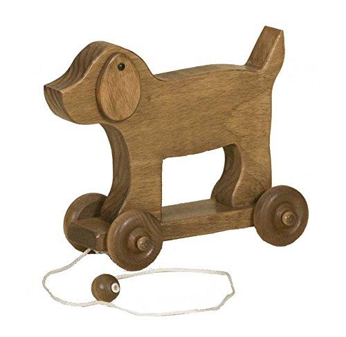 幼児用Pull Toy Dog with Moving耳USA Handcraftedクラシック木製おもちゃ   B076KXJLSH